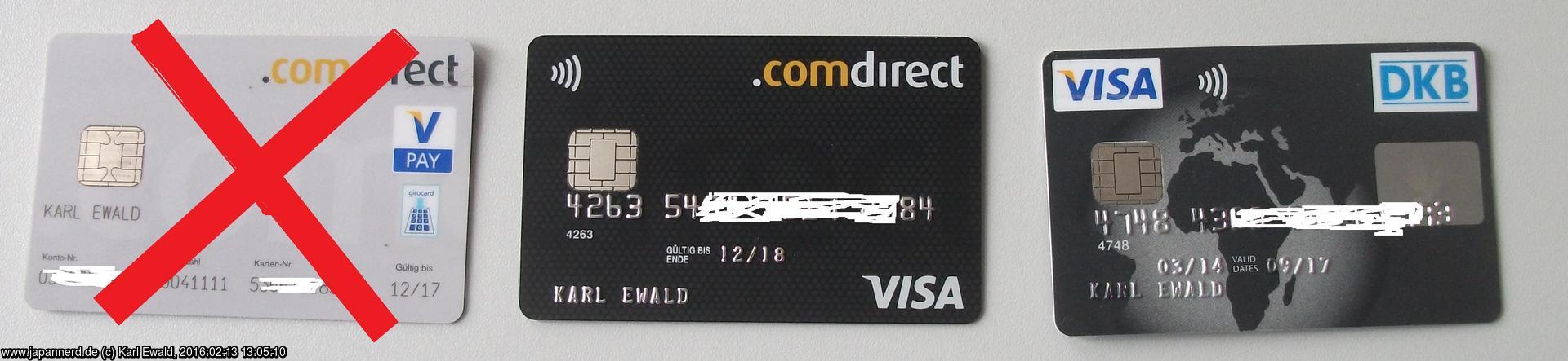 Visa Karte Comdirect.Reisezahlungsmittel Meine Methode Japannerd