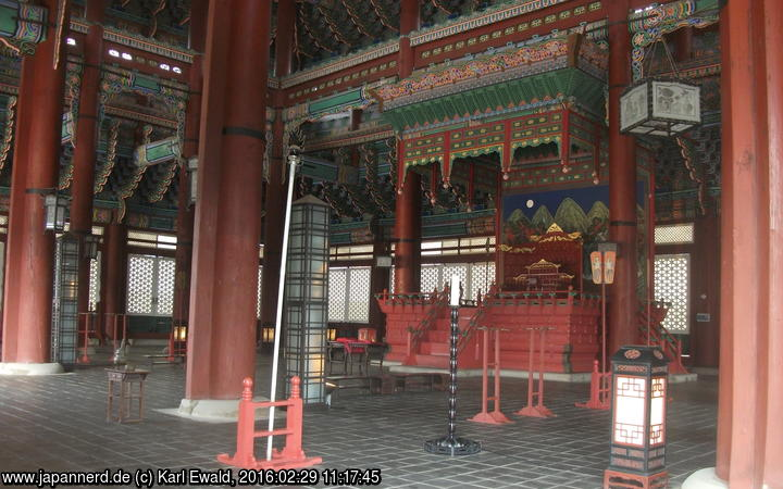 Seoul, Gyeongbokgung: Thronsaal Geunjeongjeon, Thron